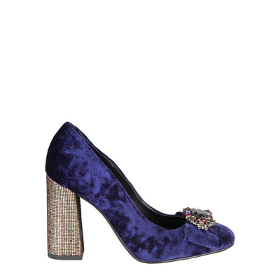 Fontana 2.0 CHRIS Block High Heel Shoes in Blue