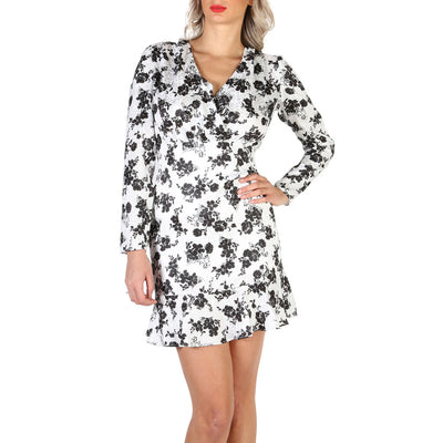 Guess - W84K2Q_WBVO0 Long Sleeve Mini Dress in White Floral Print