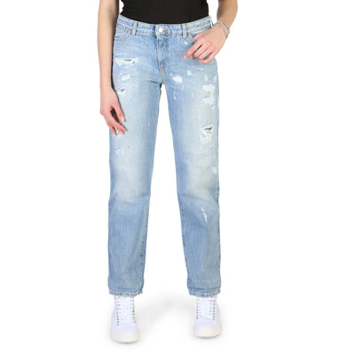 Armani Jeans - 3Y5J15_5D1AZ Women's Regular Roll Up Jeans in Blue