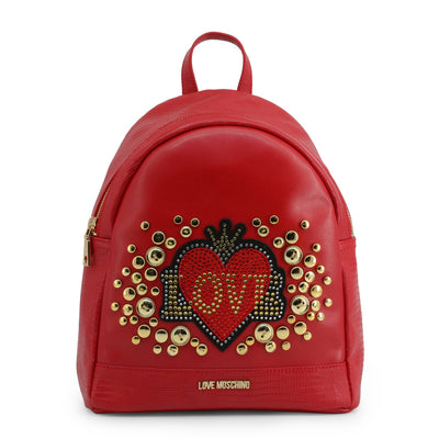 Love Moschino  JC4105PP18LT Faux Leather Backpack In Red
