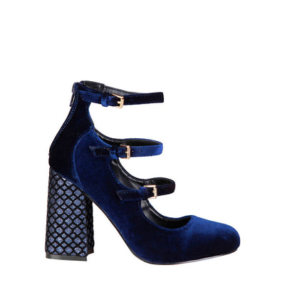 Fontana 2.0 GIULIA Velvet Pumps in Blue