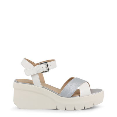Geox TORRENCE Breathable Sturdy Wedge Sandals White