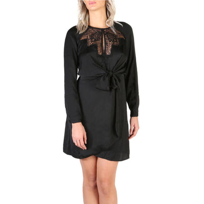 Guess - W84K53_W3TO0 Long Sleeve Midi Dress in Black