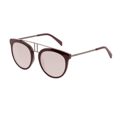 Balmain BL2117S UV2 Acetate Mirrored Lense Sunglasses in Red