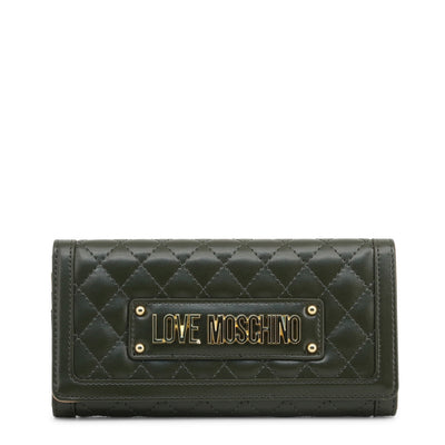 Love Moschino  JC5601PP18LA Faux Leather Clutch Bag In Green