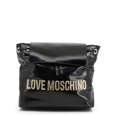 Love Moschino  JC4039PP18LD Faux Leather Backpack In Black