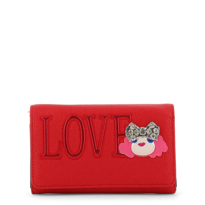 Love Moschino  JC5652PP07KH Faux Leather Clutch Bag In Red
