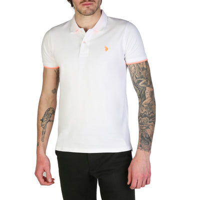 U.S. Polo 52432_41029 100% Cotton Polo Shirt in White