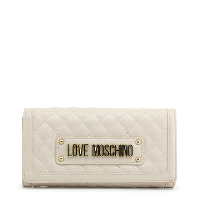 Love Moschino  JC5601PP18LA Faux Leather Clutch Bag In White