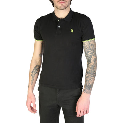 U.S. Polo 52432_41029 100% Cotton Polo Shirt in Black