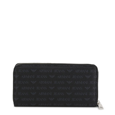 Armani Jeans - 938542_CD996 Unisex Faux Leather Wallet in Black