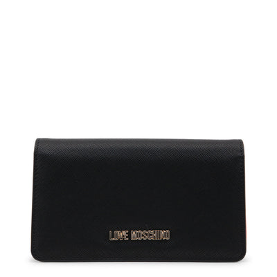 Love Moschino  JC5553PP16LQ Faux Leather Purse In Black