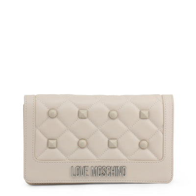 Love Moschino  JC4060PP18LH Faux Leather Clutch Bag In White