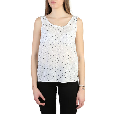 Armani Jeans - C5022_ZB Women's Sleeveless Top in White