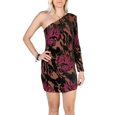 Guess - W84K2D_WBRS0 One Shoulder Long Sleeve Mini Dress in Black