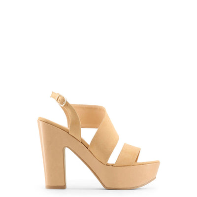 Made in Italia - FIAMMETTA Block Heel Platform Sandals in Brown
