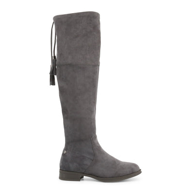 Xti 30937 Women's Faux Suede Knee High Boots in Grey