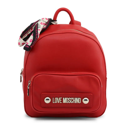 Love Moschino  JC4034PP18LC Faux Leather Backpack In Red