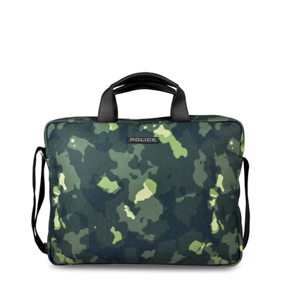 Police PT442143 Fabric Material Briefcase in Army Green