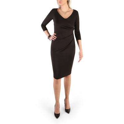 Guess - 71G740_6453Z Long Sleeve Midi Dress in Black