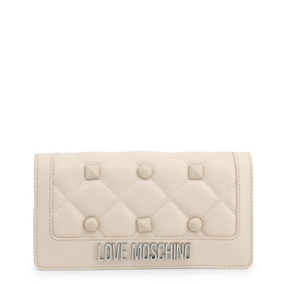 Love Moschino  JC5610PP18LH Faux Leather Clutch Bag In White