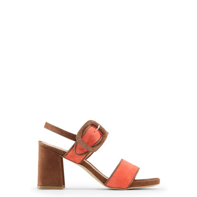 Made in Italia - GAIA Block Heel Sandals in Brown