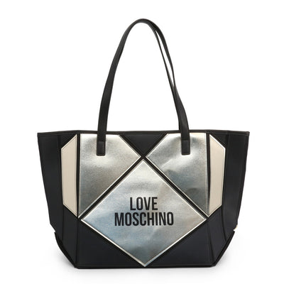 Love Moschino  JC4120PP18LX Faux Leather Shopping Bag In Black