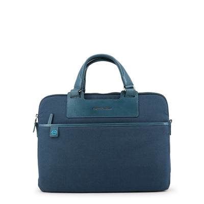 Piquadro CA3133X3 Leather Fabric Briefcase in Blue