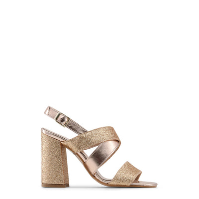 Made in Italia - VERA_GLITTER Block Heel Sandals in Brown