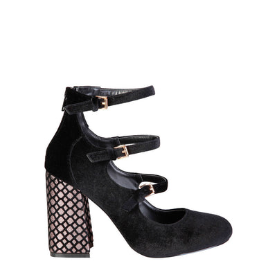 Fontana 2.0 GIULIA Velvet Pumps in Black