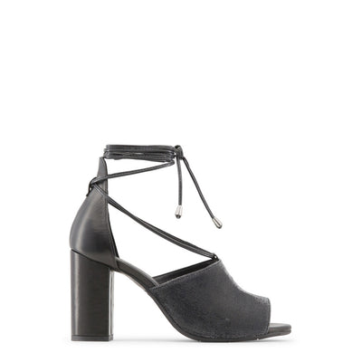 Made in Italia - AMALIA Block Heel Leather Sandals in Black