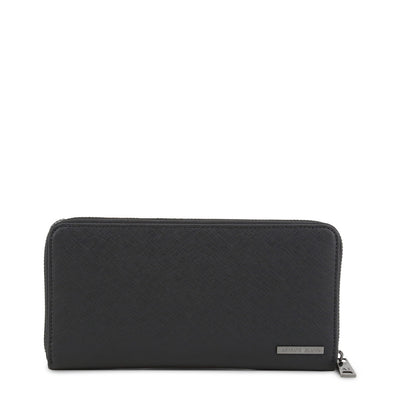 Armani Jeans - 938542_CD991 Unisex Faux Leather Wallet in Black