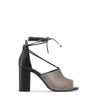 Made in Italia - AMALIA Block Heel Leather Sandals in Black & Bronze