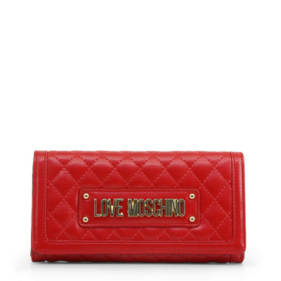Love Moschino  JC5601PP18LA Faux Leather Clutch Bag In Red