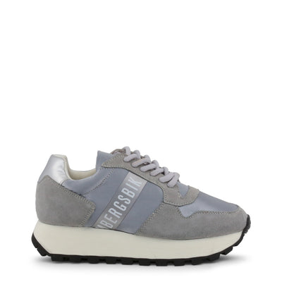 Bikkembergs FENDER 2087 Leather Suede Sneakers Silver/Grey
