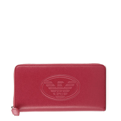Emporio Armani Y3H114-YH18A  Faux Leather Logo Purse in Red