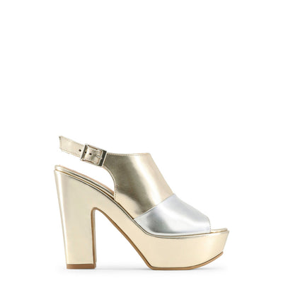 Made in Italia - BIBIANA Block Heel Platform Sandals in Platinum