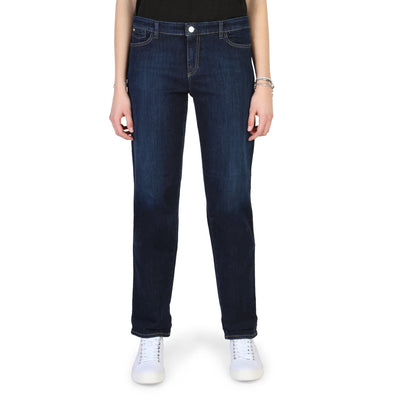 Armani Jeans - 3Y5J15_5D16Z Women's Regular Roll Up Jeans in Blue
