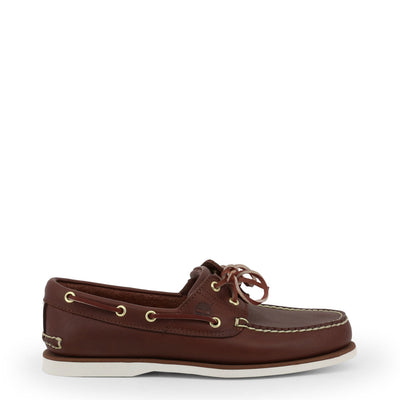 Timberland CLASSICBOAT Leather Moccasins in Dark Brown