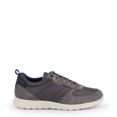 Geox DAMIAN Breathable Leather Suede Sneakers Grey