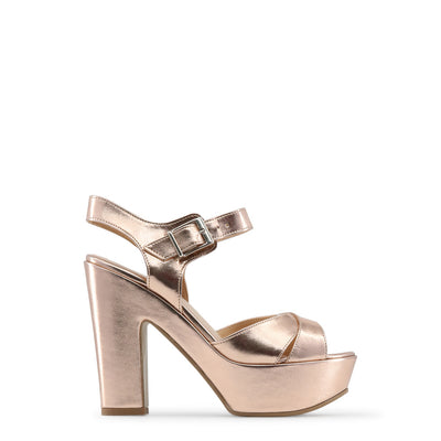 Made in Italia - ENIMIA Block Heel Platform Sandals in Pink