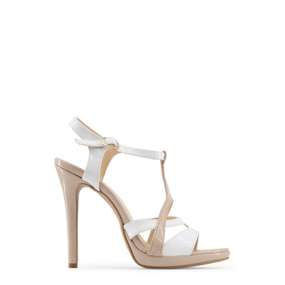 Made in Italia - IOLANDA High Heel Sandals in Brown & White