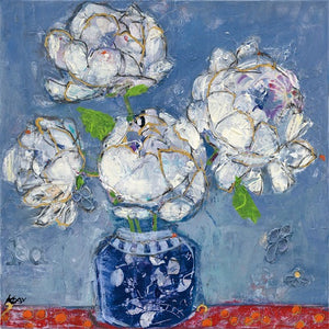 Vase of Peonies - KELLIE DAY