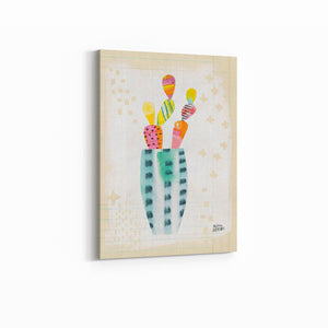 Collage Cactus I on Graph Paper - MELISSA AVERINOS