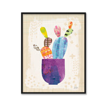 Load image into Gallery viewer, Collage Cactus III on Graph Paper - MELISSA AVERINOS