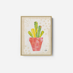 Collage Cactus VI on Graph Paper - MELISSA AVERINOS