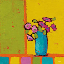 Load image into Gallery viewer, Turquoise Vase Bright - PHYLLIS ADAMS