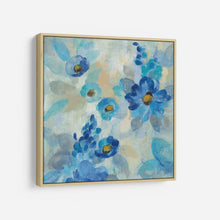 Load image into Gallery viewer, Blue Flowers Whisper III - SILVIA VASSILEVA