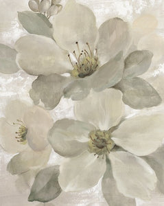 White on White Floral I Neutral - SILVIA VASSILEVA