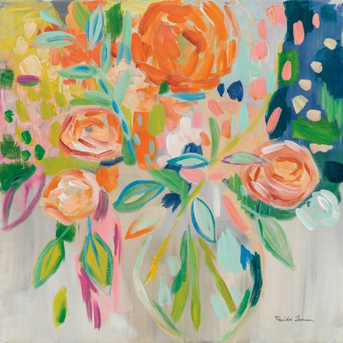 Summer Orange Floral - FARIDA ZAMAN